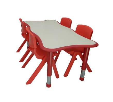 Kids Art Table | Bella Curved Rectagle Table