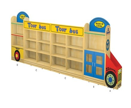 Jordan Bus | Playroom Storage Ideas