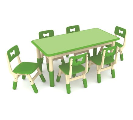Kids Table | Jill Rectangle Height Adjustable Table