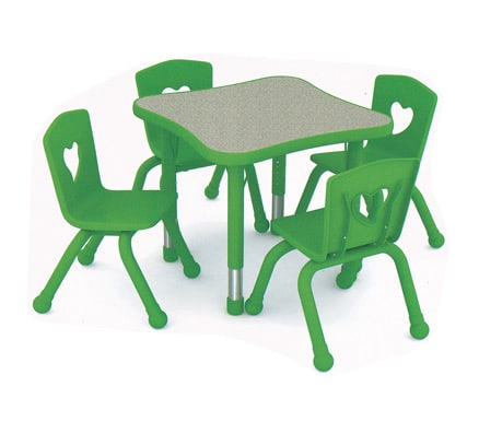 Childrens Tables | Bella Curved Square Table