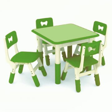 Jill Contrasting Square Table_Green