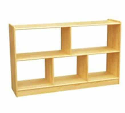 Woodland Classic Dual Sided Horizontal Offset Shelves (5) - Natural | Kids Toy Storage Units
