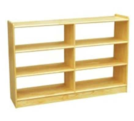 Woodland Classic Dual Sided Straight Shelves (6) - Natural | Toy Room Storage