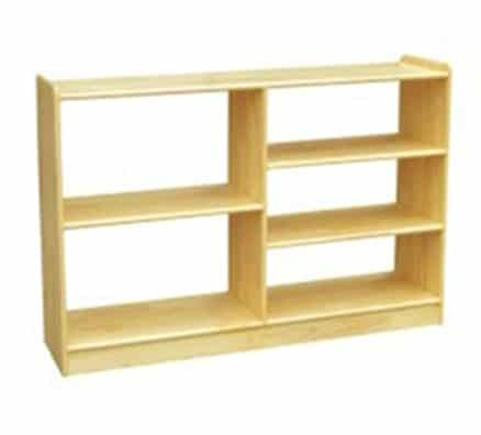 Woodland Classic Dual Sided Vertical Offset Shelves (5) - Natural | Playroom Storage
